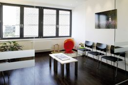 Waiting room of the practice for oral, maxillofacial and facial surgery in Braunschweig
