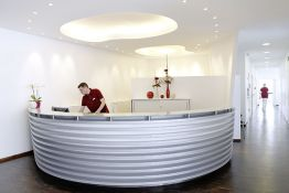 Reception area of ​​the practice for oral, maxillofacial and facial surgery in Braunschweig